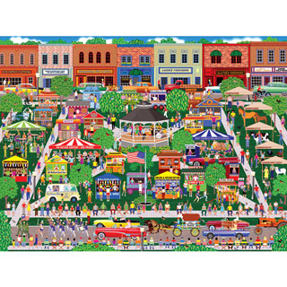 Small Town Summer Fair 500 Piece Jigsaw Puzzle