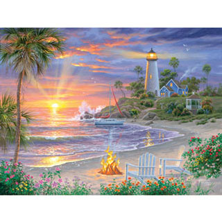 Honeymoon Sunset 300 Large Piece Jigsaw Puzzle