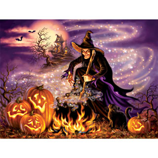 All Hallow's Eve 500 Piece Jigsaw Puzzle