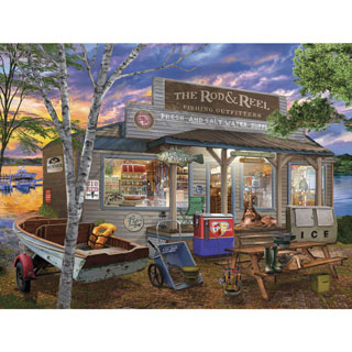 Rod & Reel 300 Large Piece Jigsaw Puzzle
