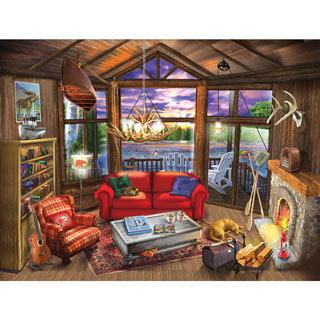 Evening at the Cabin 300 Large Piece Jigsaw Puzzle