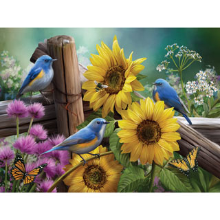 Sunflower Garden  550 Piece Jigsaw Puzzle