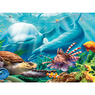 Seavilians 100 Large Piece Jigsaw Puzzle