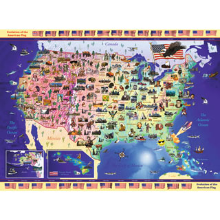 USA Map 300 Large Piece Jigsaw Puzzle