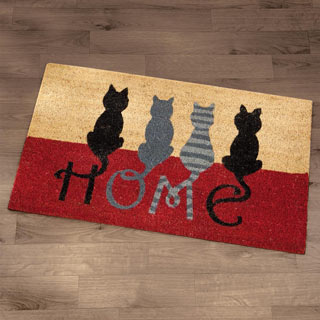Cat Tails Home Mat