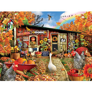 Chickens Crossing 300 Large Piece Jigsaw Puzzle