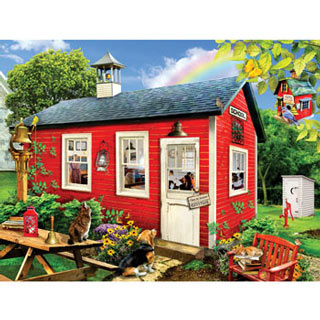 Little Red Schoolhouse 300 Large Piece Jigsaw Puzzle