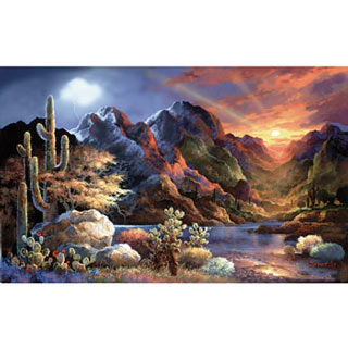 Saturday Sunset 300 Large Piece Jigsaw Puzzle