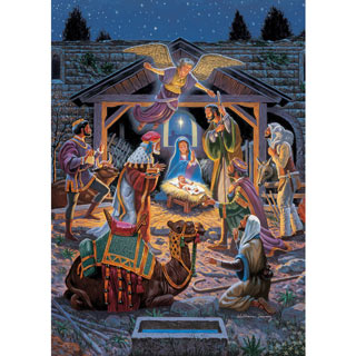 Holy Night 500 Piece Glitter Jigsaw Puzzle