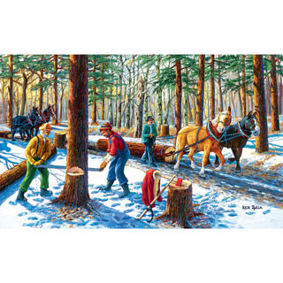 Lumberjacks 300 Large Piece Jigsaw Puzzle