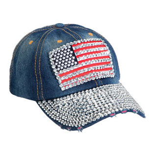 Bling American Flag Hat