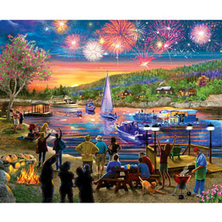 Summer Fireworks 300 Large Piece Jigsaw Puzzle