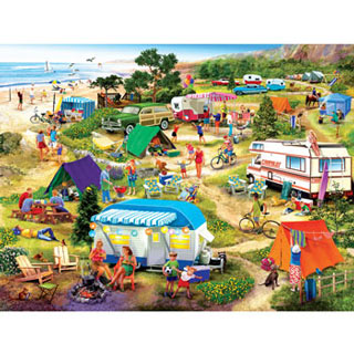 Seaside Campground 300 Large Piece Jigsaw Puzzle