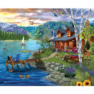 Peaceful Summer 300 Large Piece Jigsaw Puzzle