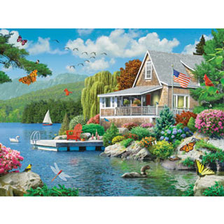 Lakeside Memories 300 Large Piece Jigsaw Puzzle