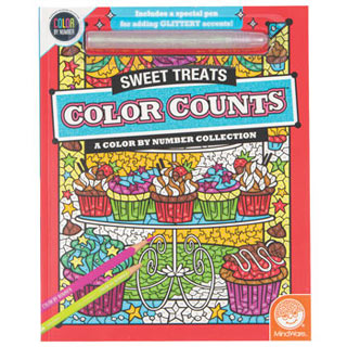 Color Counts Glitter Book- Sweet Treats