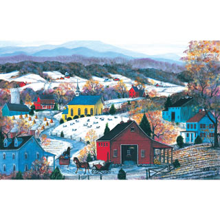 Sleigh Ride Twosome 550 Piece Jigsaw Puzzle