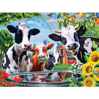 Moo Love 300 Large Piece Jigsaw Puzzle