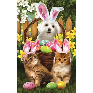 Easter Bunny in Training 300 Large Piece Jigsaw Puzzle