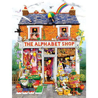 The Alphabet Shop 500 Piece Jigsaw Puzzle