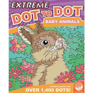 Extreme Dot-to-Dots Book - Baby Animals