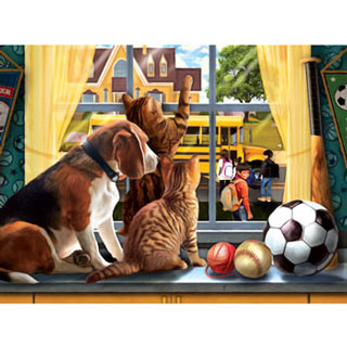 Off to School 300 Large Piece Jigsaw Puzzle