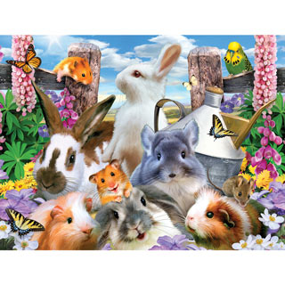 Backyard Friends 300 Large Piece Jigsaw Puzzle