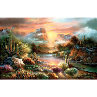 Sunset Splendor 300 Large Piece Jigsaw Puzzle