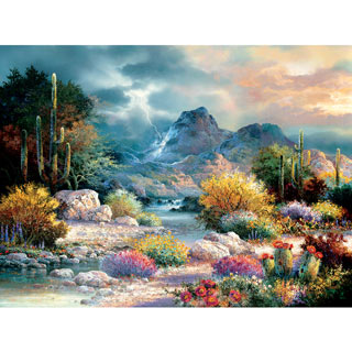 Springtime Valley 300 Large Piece Jigsaw Puzzle