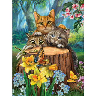Fraidy Cats 300 Large Piece Jigsaw Puzzle