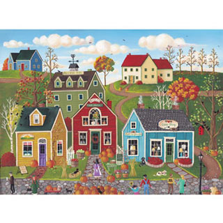 Pumpkins on Pebble Lane 500 Piece Jigsaw Puzzle