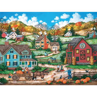 The Pumpkin Pickers 300 Large Piece Jigsaw Puzzle
