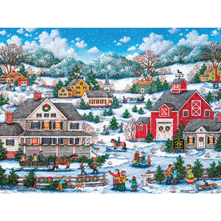 Kringle's Tree Farm 550 Piece Jigsaw Puzzle