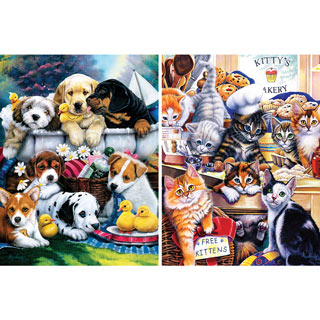 Set of 2: Jenny Newland 300 Large Piece Jigsaw Puzzles