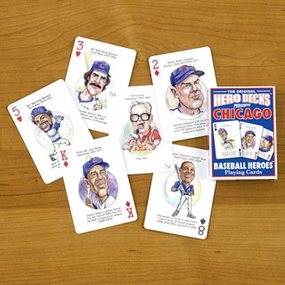 Cubs Baseball Heroes Playing Cards