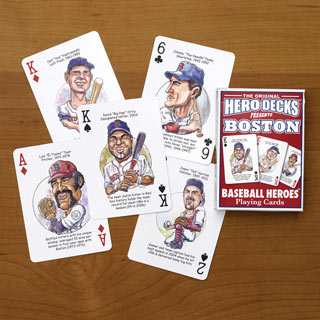Red Sox - Baseball Heroes Playing Cards