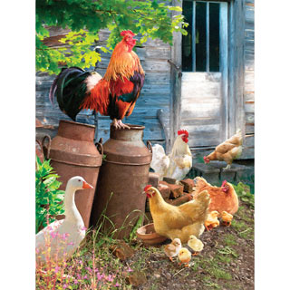 Hen Run 300 Large Piece Jigsaw Puzzle