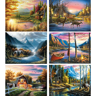 Set of 6: Chuck Black 500 Piece Jigsaw Puzzles