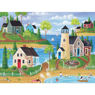 Summer by the Sea 300 Large Piece Jigsaw Puzzle