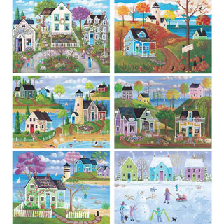 Set of 6: Kim Leo 500 Piece Jigsaw Puzzles