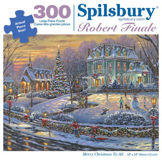 Merry Christmas to All 300 Large Piece Jigsaw Puzzle