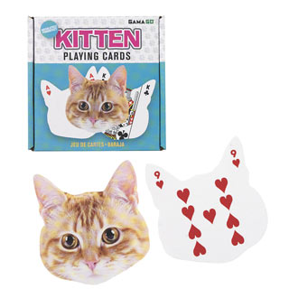 Kitten Shaped Playing Card