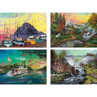 Set of 4: Joshua Ben King 300 Large Piece Jigsaw Puzzle