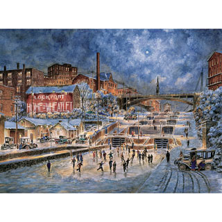The Skating Party 500 Piece Jigsaw Puzzle