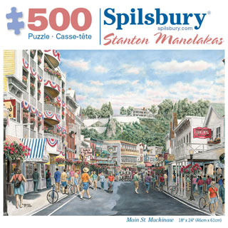 Main St. Mackinaw 500 Piece Jigsaw Puzzle