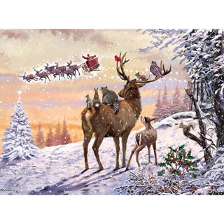 Watching Santa 300 Large Piece Jigsaw Puzzle
