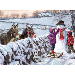 Donkeys 300 Large Piece Jigsaw Puzzle