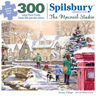 Snowy Village 300 Large Piece Jigsaw Puzzle
