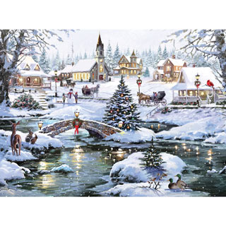 Icy Lights 300 Large Piece Jigsaw Puzzle