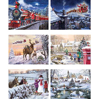 Set of 6: The MacNeil Studios 300 Large Piece Jigsaw Puzzles